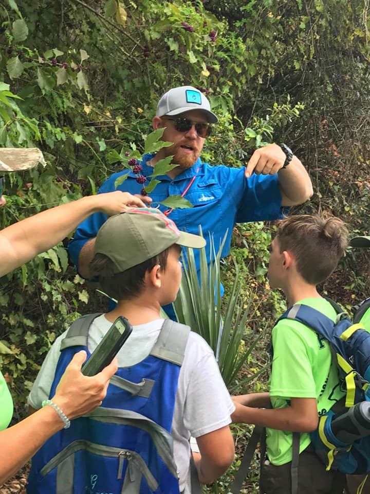 Wilderness Instructor, Steve Claytor leads Boy Scout Troop 26 on an adventure